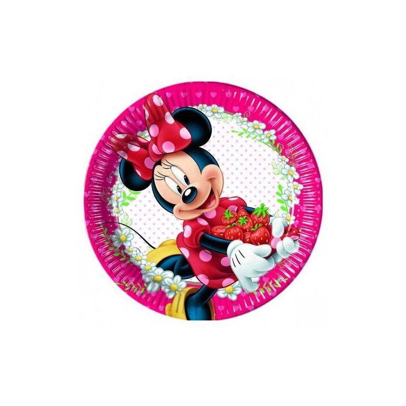 Assiette carton x 8 Minnie Jam 23 cm Déco festive LMIN86579
