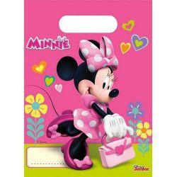 Sacs cadeaux Minnie Helpers x 6 Déco festive LMIN87868