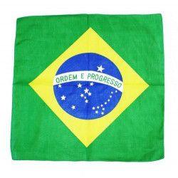Bandana drapeau Brésil 57x57 cm Accessoires de fête LP00130