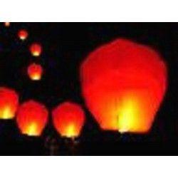 Lanterne céleste rouge avec brûleur Déco festive LP00458