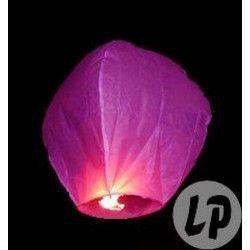 Lanterne céleste rose avec brûleur fixé Déco festive LP00462