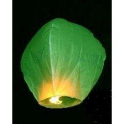Lanterne céleste thaïlandaise verte Déco festive LP00467