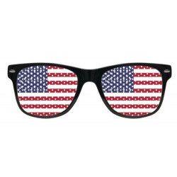 Accessoires de fête, Lunettes grille supporter drapeau USA, LP00542, 3,50€
