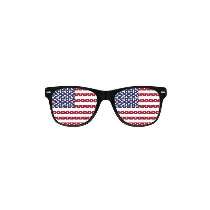 Lunettes grille supporter drapeau USA Accessoires de fête LP00542