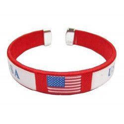 Bracelet drapeau USA Accessoires de fête LP00875