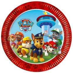 Assiettes jetables Pat'Patrouille™ x 8 Ø 23 cm Déco festive LPAT88541