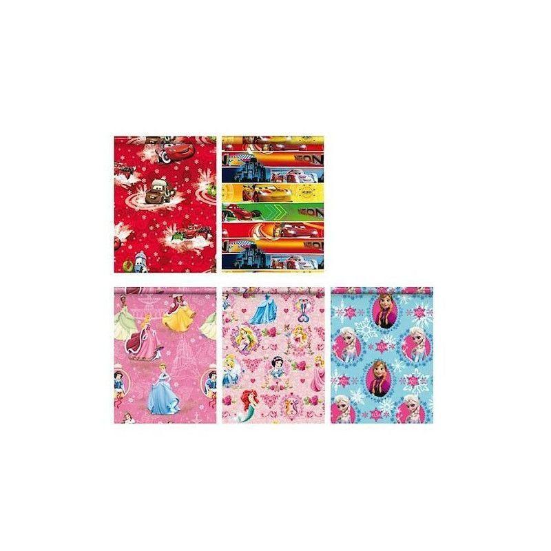 Papier cadeau thème Cars/Princess/Reine des Neiges Déco festive LPC13047