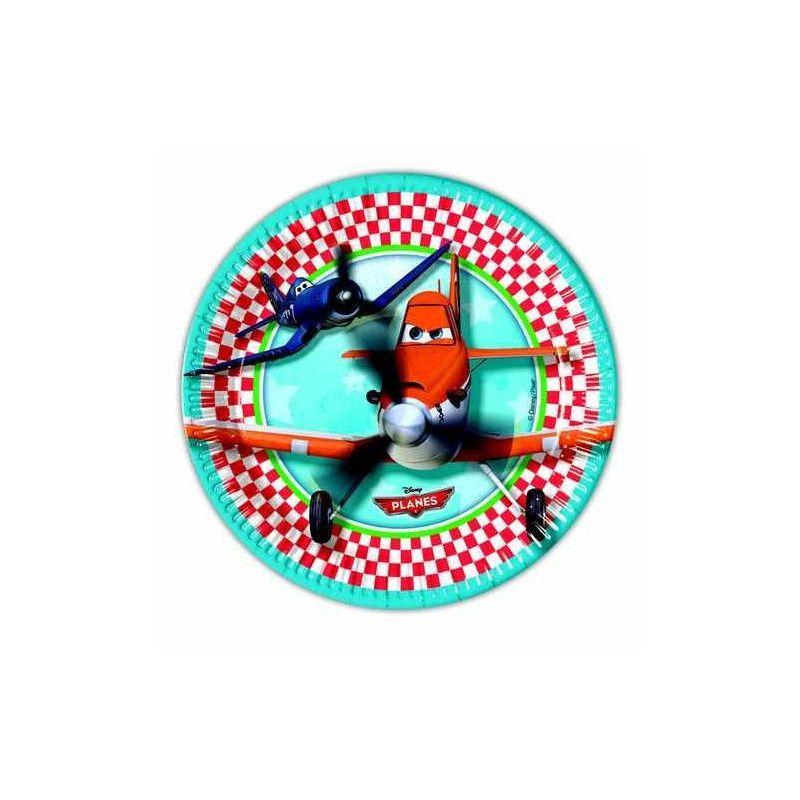 Assiettes anniversaire Planes™ x 8 Déco festive LPLA81652