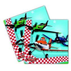 Serviettes anniversaire Planes™ x 20 Déco festive LPLA81654