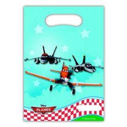Sacs anniversaire Planes™ x 6 Déco festive LPLA81657