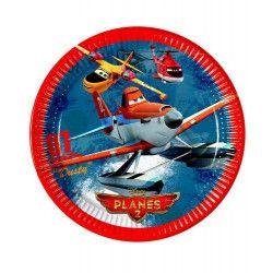 Assiettes anniversaire Planes 2™ x 8 Déco festive LPLA84358