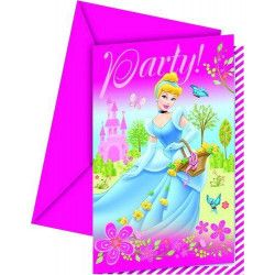 Cartes invitation anniversaire Princess Summer Palace x 6 Déco festive LPRI80460