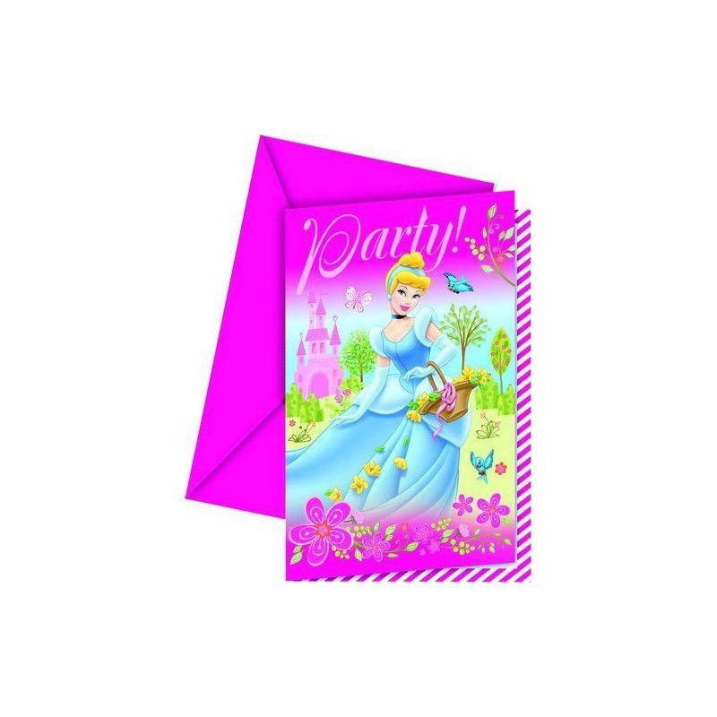 Cartes invitation anniversaire Princess Summer Palace x 6 Déco festive LPRI80460