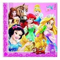Serviettes Princesses et Animaux x 20 Déco festive LPRI82647