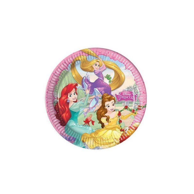 Assiettes carton Princesses Dreaming™ x 8 diamètre 23 cm Déco festive LPRI86677