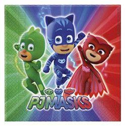 Serviettes anniversaire Pyjamasques™ x 20 Déco festive LPYJ88633
