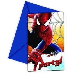 Cartes invitation anniversaire Amazing Spiderman 2™ x 6 Déco festive LSPI82946