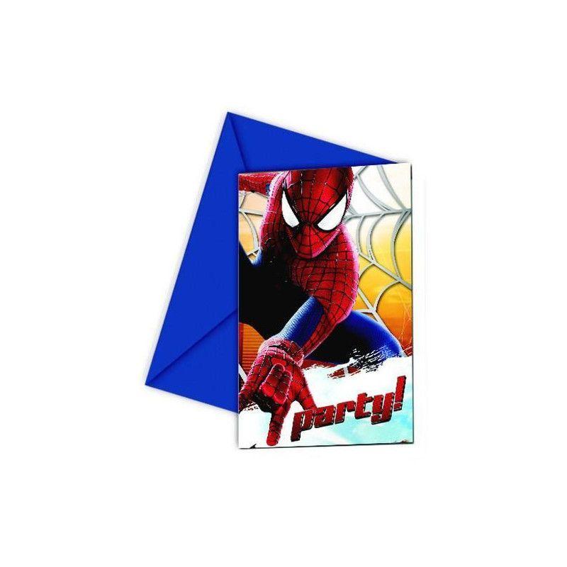 Cartes Invitation Anniversaire Amazing Spiderman 2 X 6 Déco Festi