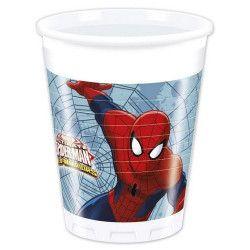Gobelets anniversaire Spiderman Web Warriors™ x 8 Déco festive LSPI85153