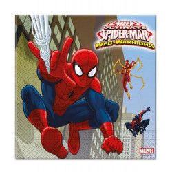 Déco festive, Serviettes anniversaire Spiderman Web Warriors™ x 20, LSPI85154, 3,45€