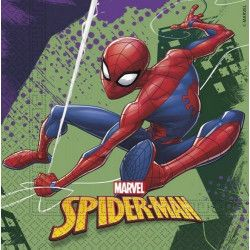 Serviettes papier x 20 Spiderman Team Up™ Déco festive LSPI89448