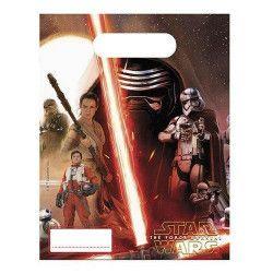 Déco festive, Sacs anniversaire Star Wars VII™ x 6, LSWA86217, 1,25€
