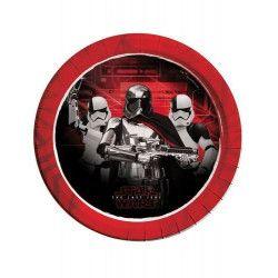 Déco festive, Assiettes jetables x 8 The Last Jedi Starwars™ 23 cm, LSWA88548, 2,95€