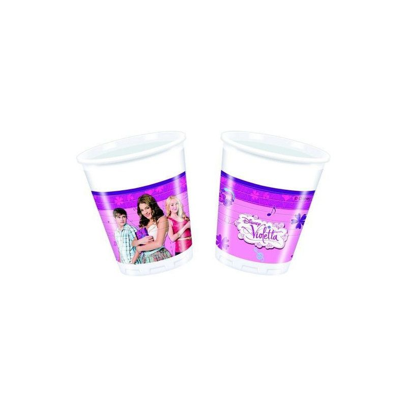 Party gobelets jetables Violetta™ x 8 Déco festive LVIO82267