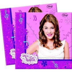 Party serviettes jetables Violetta x 20 Déco festive LVIO82268