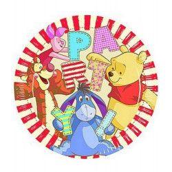 Déco festive, Assiettes x 8 Winnie Alphabet 23 cm, LWIN80496, 3,20€