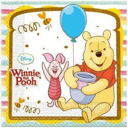 Déco festive, Serviettes Winnie l'Ourson Sweet Tweets x 20, LWIN81549, 3,40€