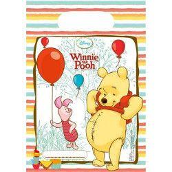 Sacs anniversaire Winnie l'Ourson Sweet Tweets x 6 Déco festive LWIN81551