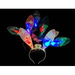 Serre-tête oreilles de lapin lumineuses Jouets et articles kermesse MI002776