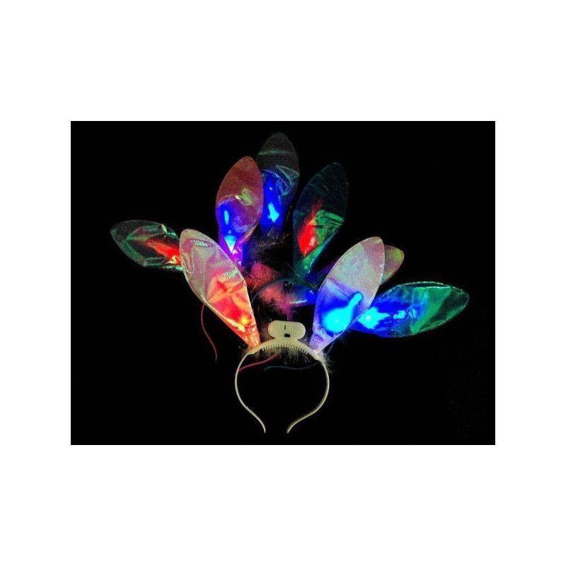Serre-tête oreilles de lapin lumineuses Jouets et kermesse MI002776