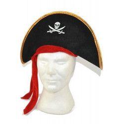 Chapeau pirate enfant avec foulard Accessoires de fête MI005088