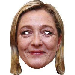 Masque carton Marine LEPEN Accessoires de fête MMLEPE01