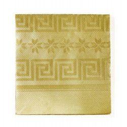 Déco festive, Nappe en papier damassé or 1.20 x 6 m, N2206OR, 4,50€