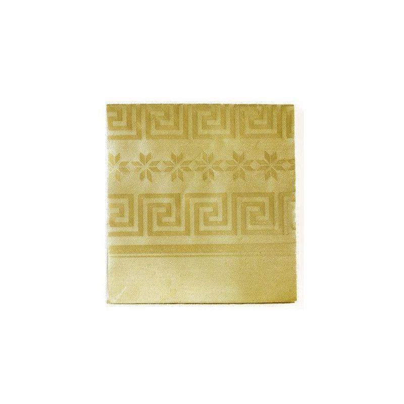 Nappe en papier damassé or 1.20 x 6 m Déco festive N2206OR
