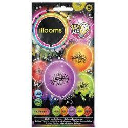 Ballons à led Joyeux Anniversaire x 5 Déco festive P152231