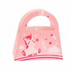 Contenant à dragées licorne rose 9 cm Cake Design PRO132