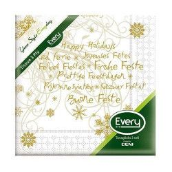Serviettes papier x 20 Bonnes Fêtes 24x24cm Déco festive S324BONFETE