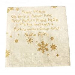 Serviettes papier x 12 Bonne Fête 40x40cm Déco festive S544BONFETE