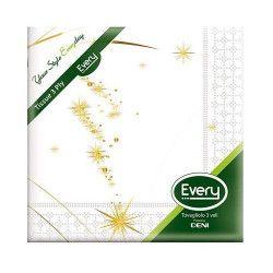 Serviettes papier x 12 Gold Star 40x40cm Déco festive S544GOLDSTAR
