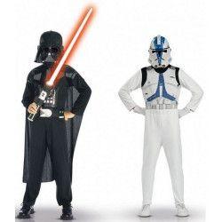Déguisements, Coffret deux déguisements Dark Vador et Clone Trooper™ enfant 5-7 ans, ST-37013, 39,90€