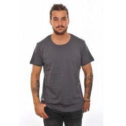 Déguisements, T-shirt basic gris foncé homme taille L, T100GRIS, 5,90€