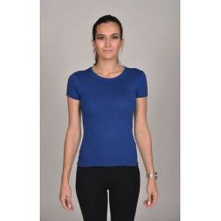 T-shirt bleu électrique coupe moulante femme Accessoires de fête T202BLEU