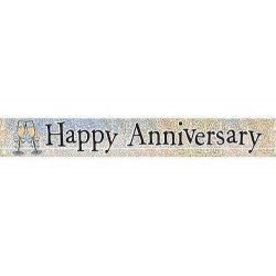 Bannière brillante Happy Anniversary Déco festive U10872