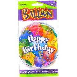 Ballon mylar Happy Birthday qualité hélium Déco festive U11359