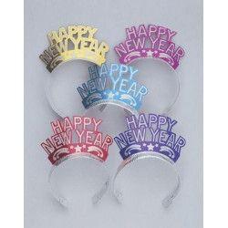 Diadème pailleté Happy New Year Accessoires de fête U15510