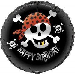 Ballon anniversaire hélium pirate 45 cm Déco festive U40507